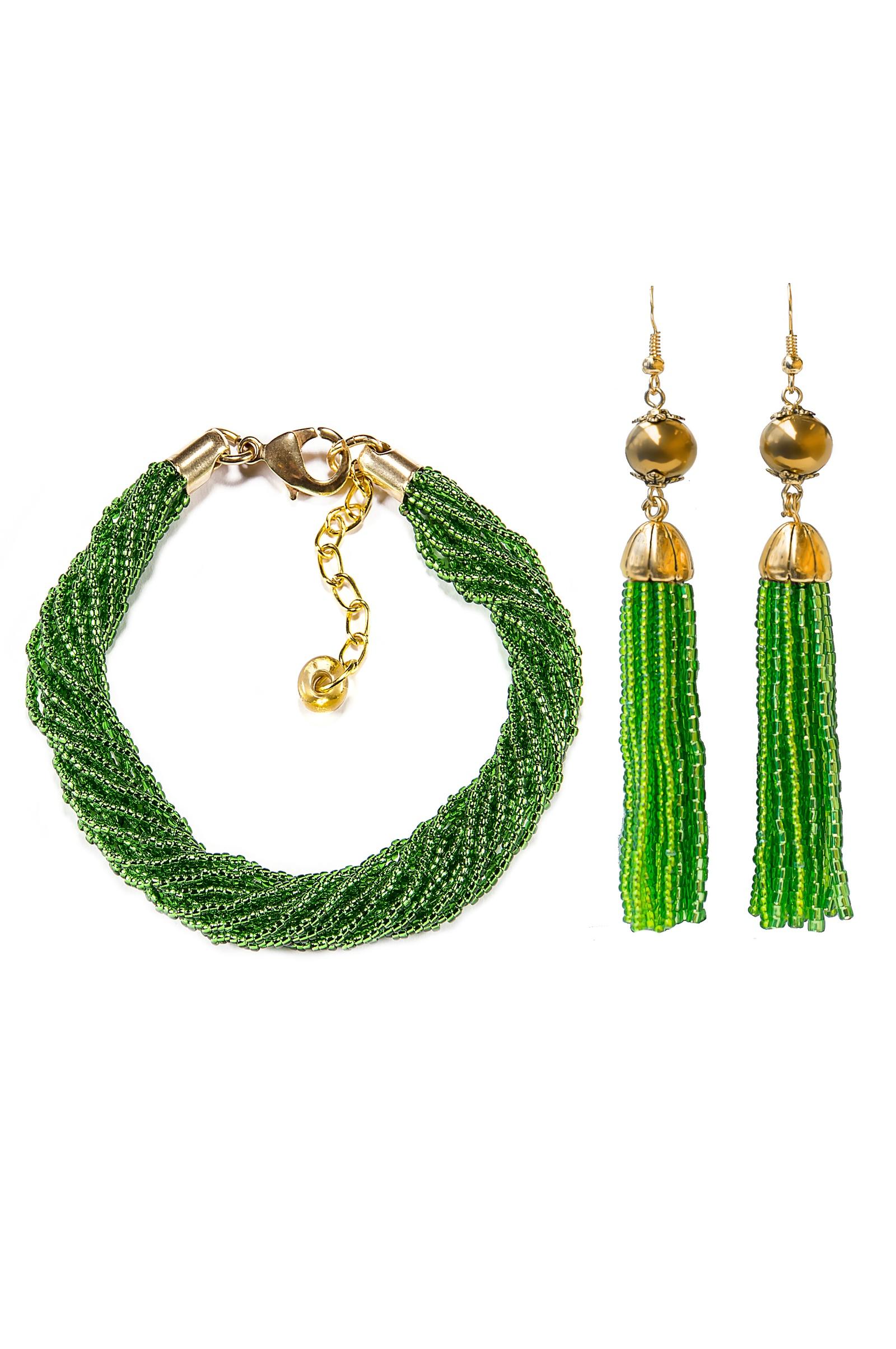 Комплект бижутерии Bottega Murano fashion desing серьги из бисера дождик 18 см 35414