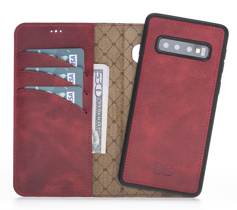 Чехол для сотового телефона Bouletta для Samsung S10 Plus MagicWallet, бордовый