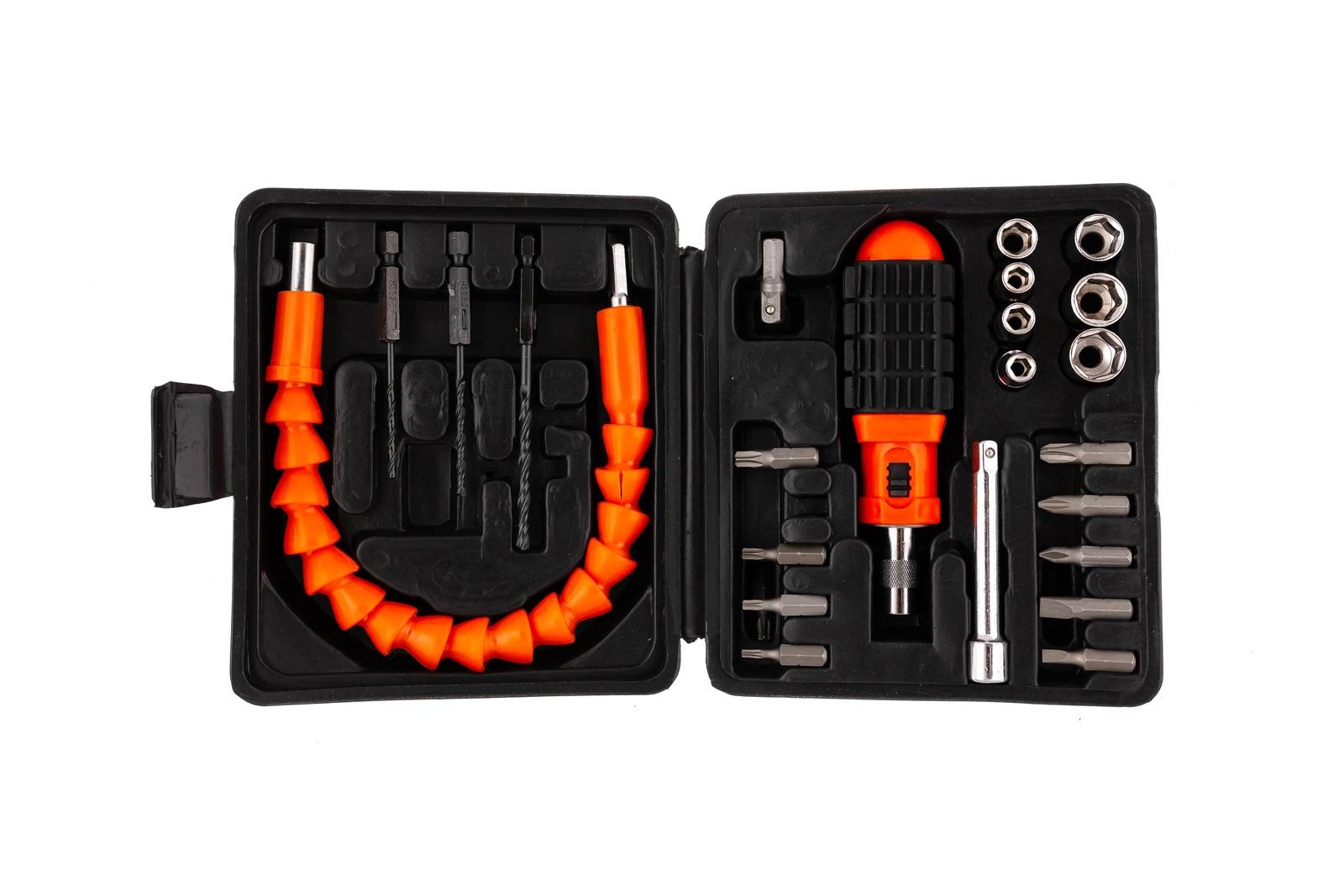 Набор инструментов Archimedes Универсальный набор с битами, 24 шт набор инструментов archimedes набор домашнего мастера 113 шт