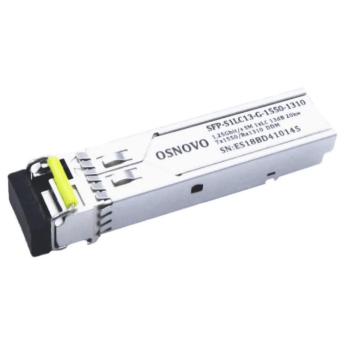 Трансивер OSNOVO Оптический SFP модуль SFP-S1LC13-G-1550-1310-I
