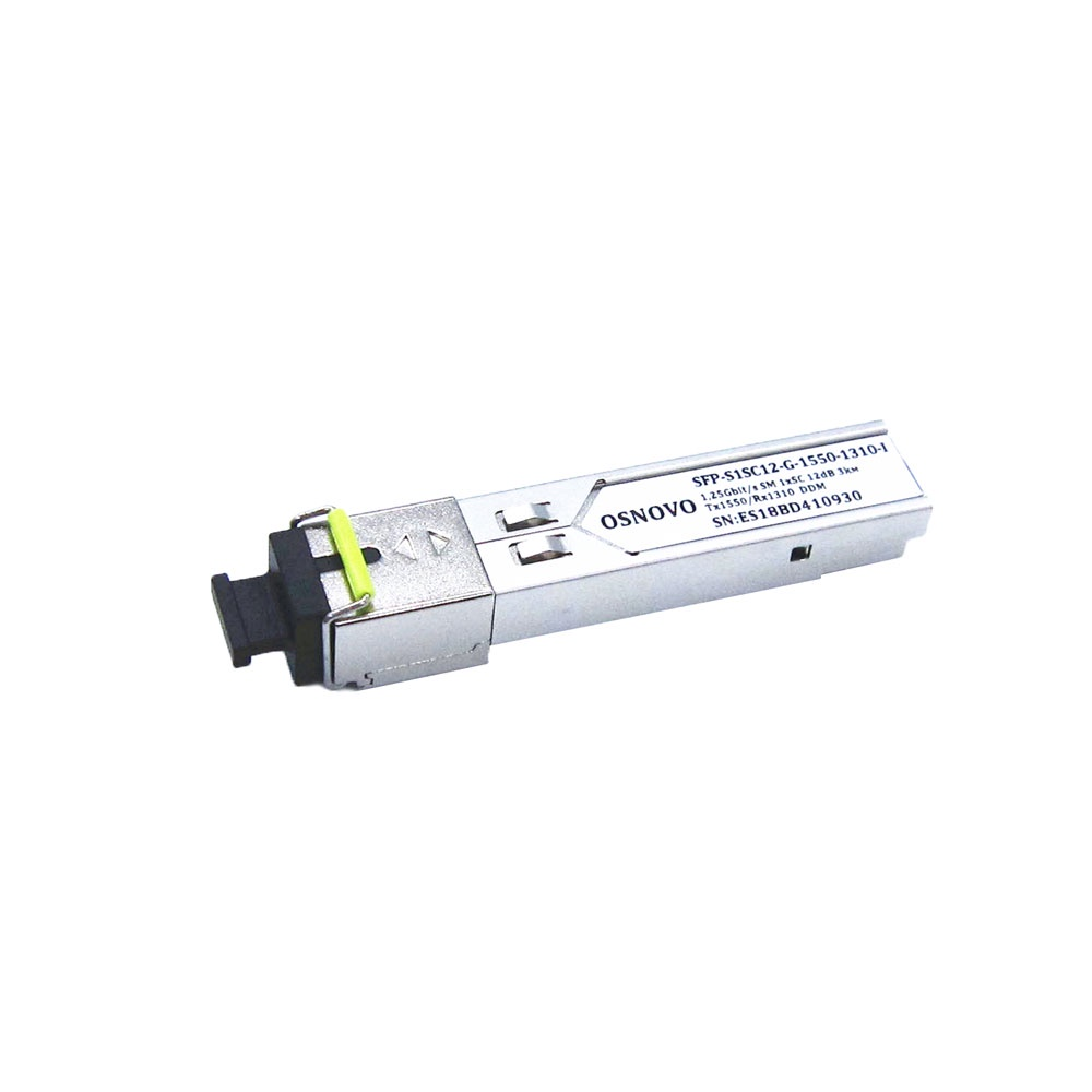 Трансивер OSNOVO Оптический SFP модуль SFP-S1SC12-G-1550-1310-I