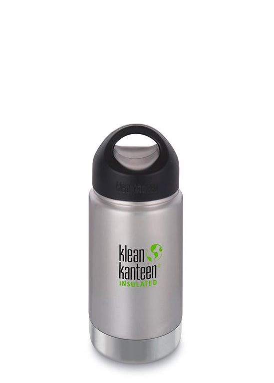 Термобутылка Klean Kanteen Insulated Wide LOOP 12oz (355 мл) Brushed Stainless