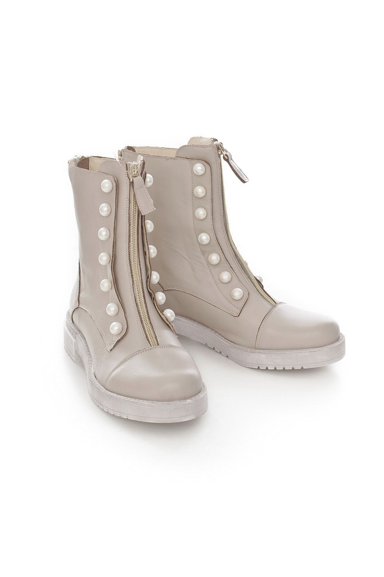 Ботинки LETICIA MILANO by Lestrosa бежевые ботинки на зиму