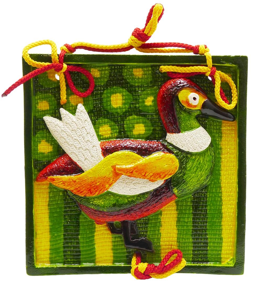Декоративное панно Мастер Чирва Утка (СК-301), зеленый