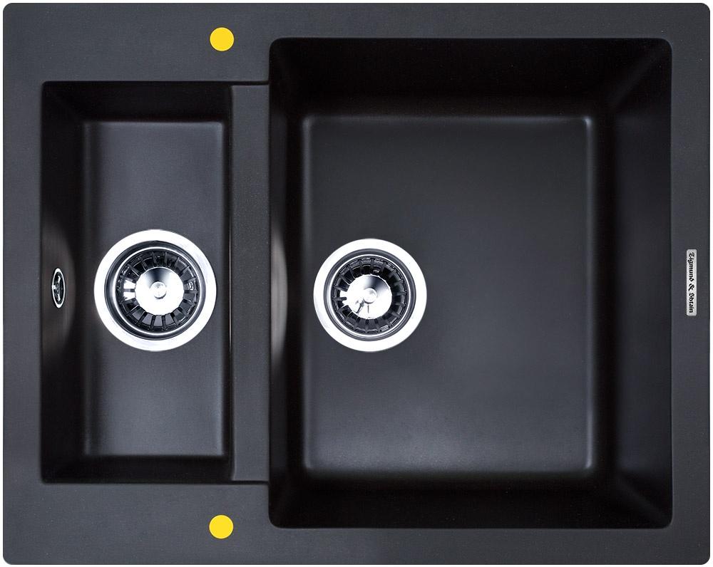 Мойка Zigmund & Shtain RECHTECK 600.2 Черный базальт