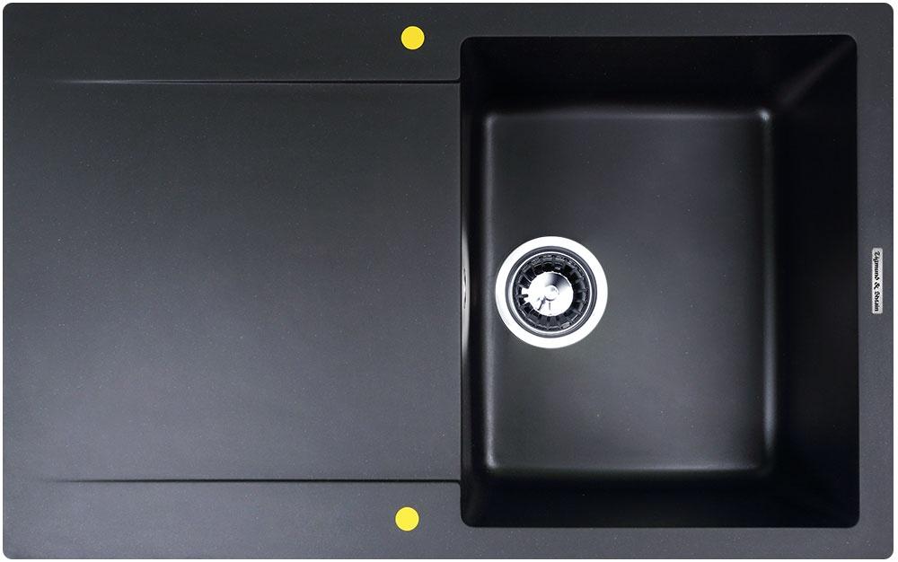 Мойка Zigmund & Shtain RECHTECK 775 Черный базальт