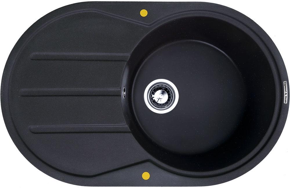 Мойка Zigmund & Shtain KREIS OV 770 D Черный базальт