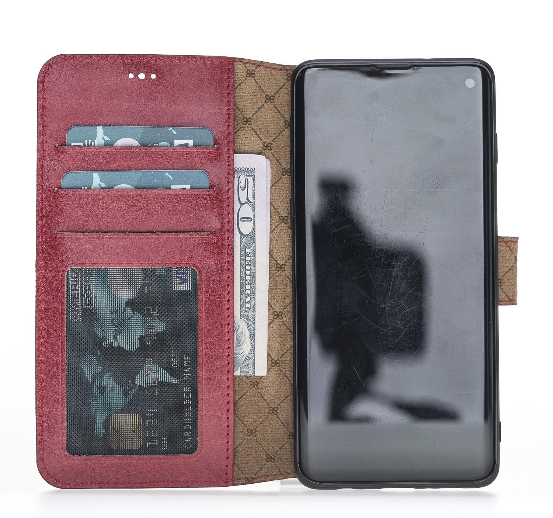 Чехол для сотового телефона Bouletta для Samsung S10 Plus WalletCase, бордовый