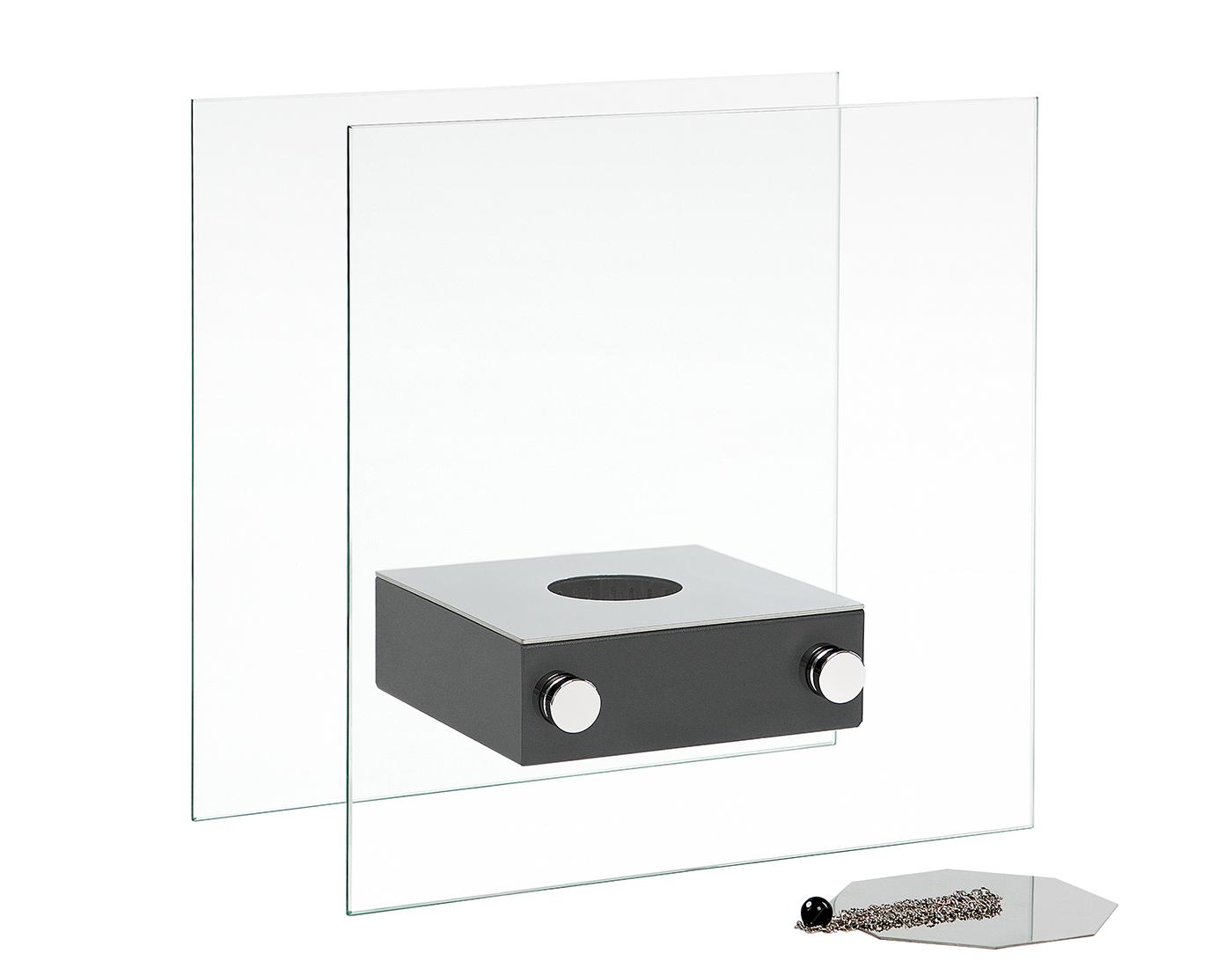 Камин Silver Smith ACE, черный биокамин silver smith mini 3 premium 1500 вт серый