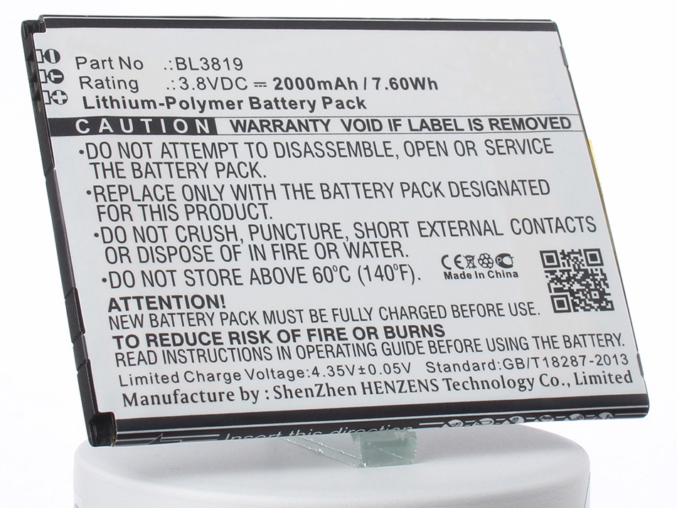 Аккумулятор для телефона iBatt BL3819 для Fly IQ4514, IQ4514 Quad EVO Tech 4 аккумулятор для телефона ibatt ib bl3819 m1761