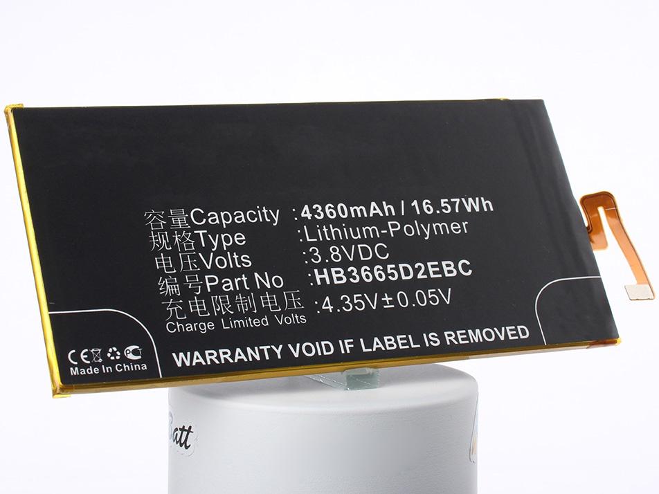 Аккумулятор для телефона iBatt HB3665D2EBC для Huawei DAV-703L, Ascend P8 Max, DAV-713L аккумулятор для телефона ibatt ib huawei dav 703l m1981