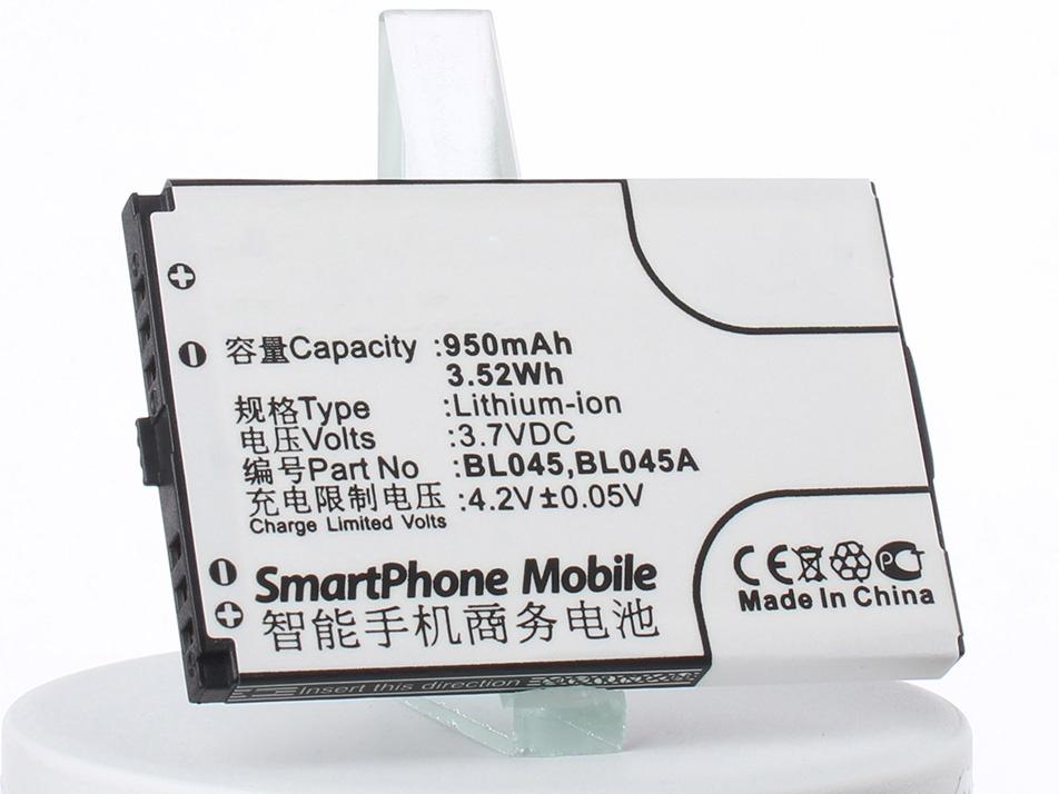 Аккумулятор для телефона iBatt BL045 для Lenovo E209, E118, E206 аккумулятор для телефона ibatt ib lenovo e209 m2091