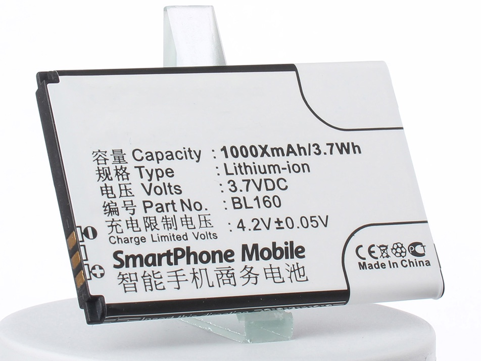 Аккумулятор для телефона iBatt BL160 для Lenovo I520, I200 аккумулятор для телефона ibatt ib bl160 m2101