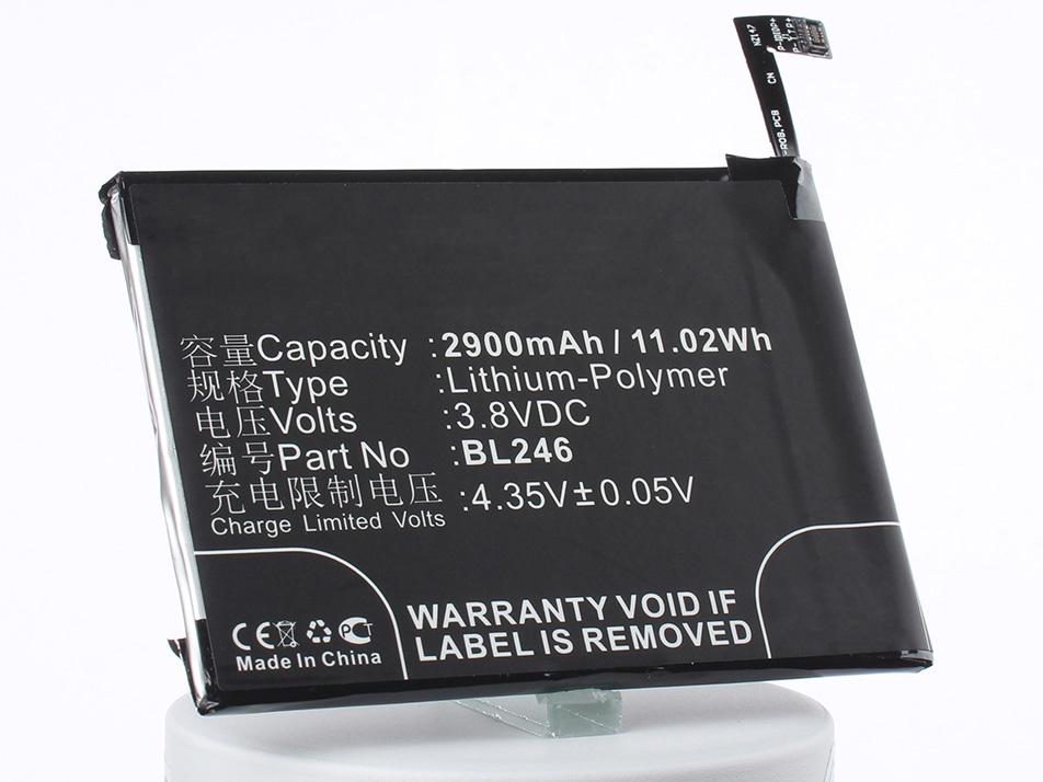Аккумулятор для телефона iBatt BL246 для Lenovo Vibe Max Z90, Vibe Max Z90-7, Vibe Max Z90-3 эрекционное виброкольцо bathmate vibe ring eight
