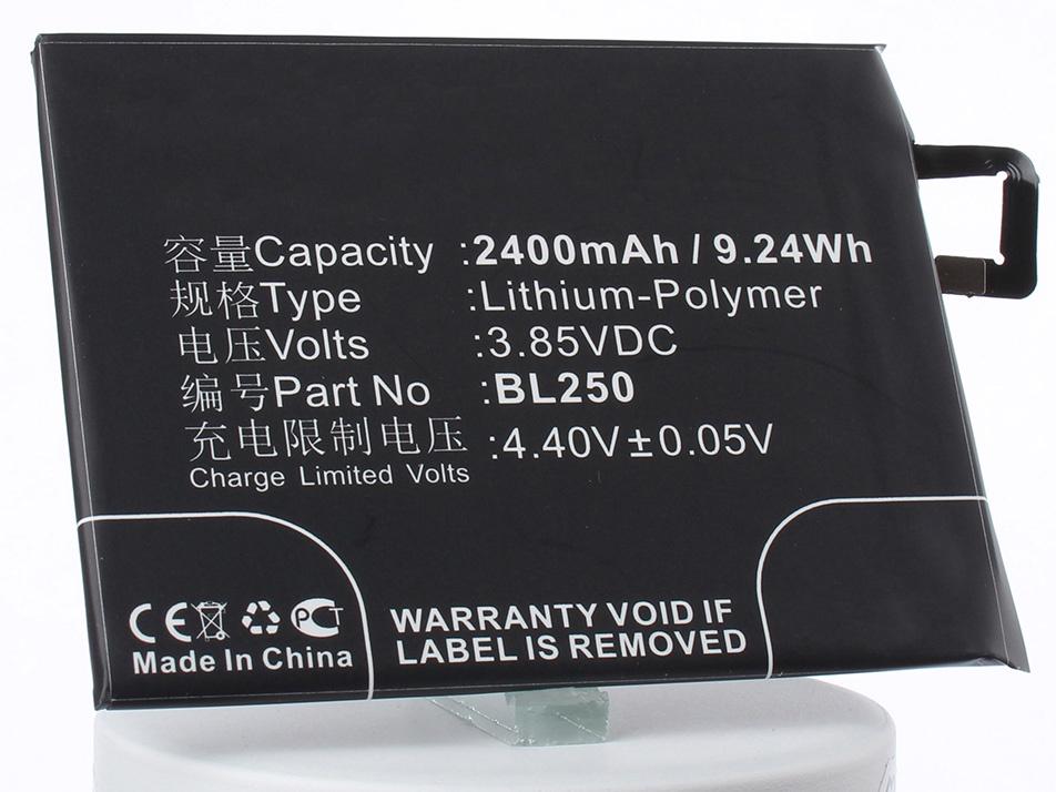 Аккумулятор для телефона iBatt BL250 для Lenovo S1a40, S1c50, S1a40 Dual SIM TD-LTE аккумулятор для телефона ibatt blp637 для lenovo a5000 5 dual sim 5