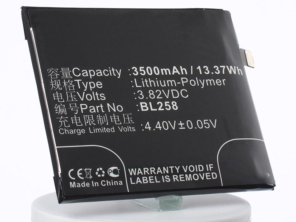 Аккумулятор для телефона iBatt BL258 для Lenovo Vibe X3, Lemon X3, Lemon X3 Dual SIM TD-LTE аккумулятор для телефона ibatt bl250 для lenovo s1a40 s1c50 s1a40 dual sim td lte