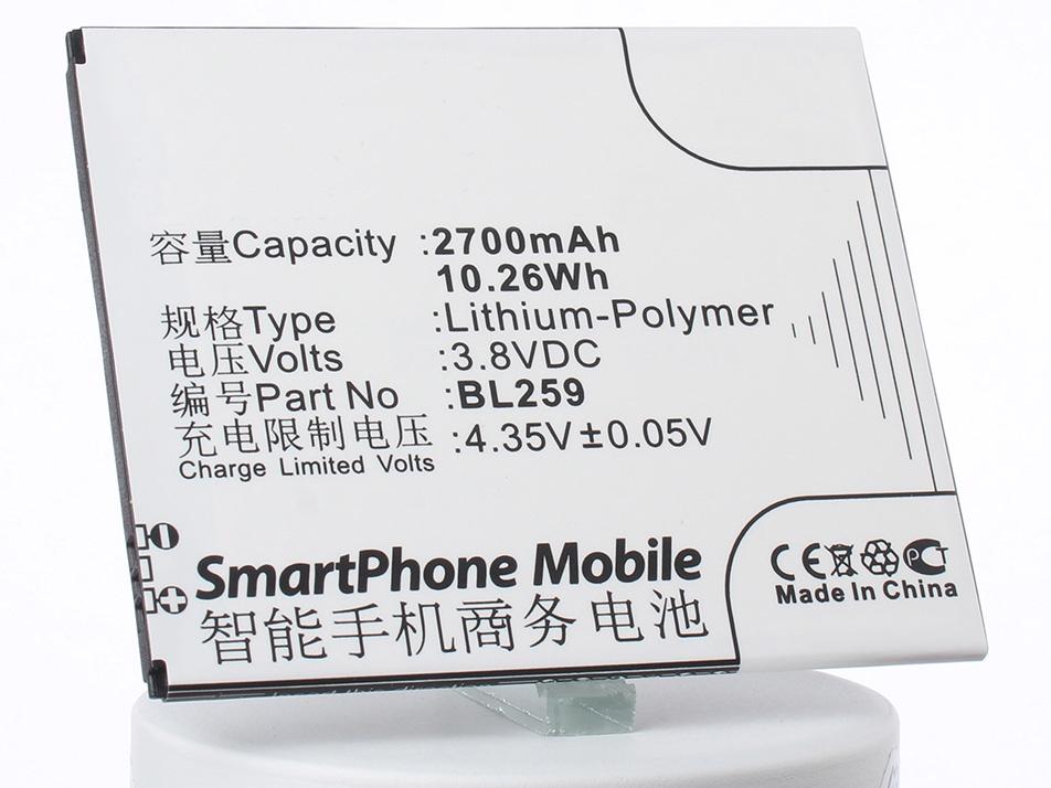 Аккумулятор для телефона iBatt BL259 для Lenovo Lemon 3, K32C36, Lemon 3 Dual SIM TD-LTE аккумулятор для телефона ibatt blp637 для lenovo a5000 5 dual sim 5
