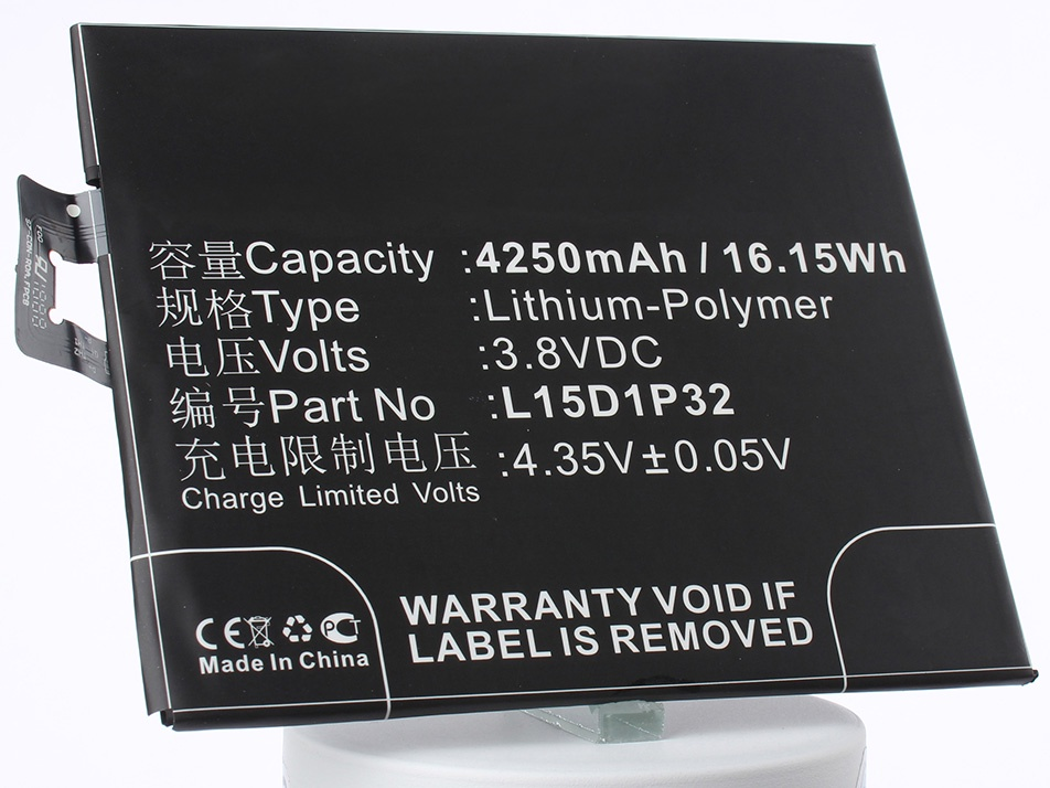 Аккумулятор для телефона iBatt L15D1P32 для Lenovo PB1-750M, PB1-750, PB1-750N смартфон lenovo phab plus pb1 770m 32 гб золотистый za070035ru