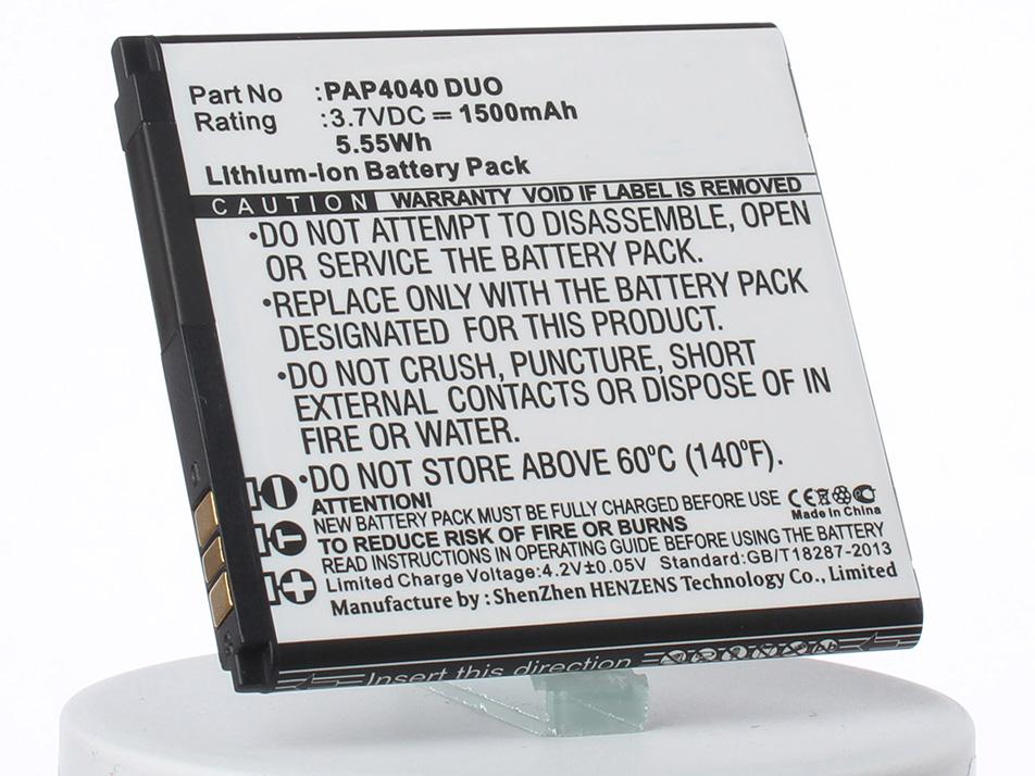 Аккумулятор для телефона iBatt PAP4040 DUO для Prestigio MultiPhone 4040 Duo аккумулятор для телефона ibatt ib prestigio multiphone 4322 duo m846