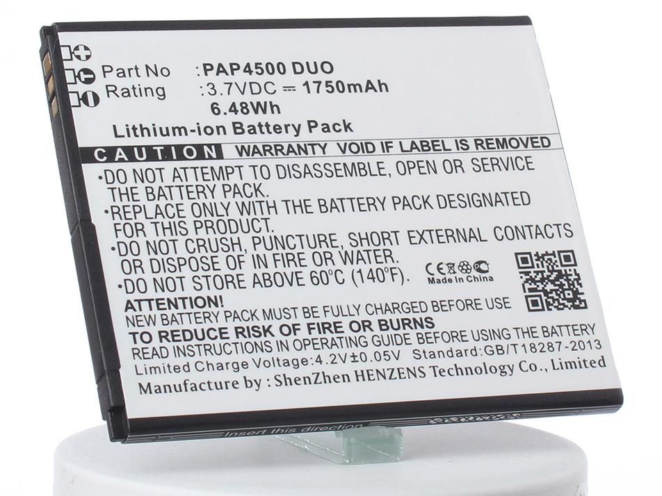Аккумулятор для телефона iBatt PAP4500 DUO для Prestigio MultiPhone 4500 Duo аккумулятор для телефона ibatt ib prestigio multiphone 4322 duo m846