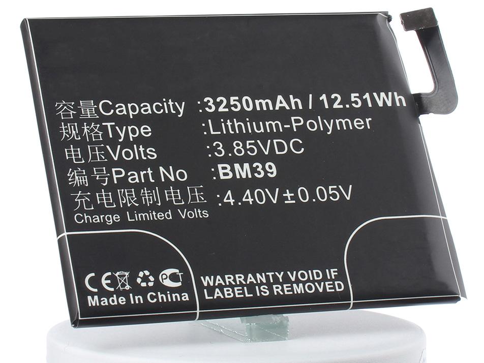 Аккумулятор для телефона iBatt BM39 для Xiaomi Mi 6, Mi 6 Dual SIM, Mi 6 Dual SIM TD-LTE аккумулятор для телефона ibatt hc60 для motorola moto c plus xt1723 moto c plus dual sim