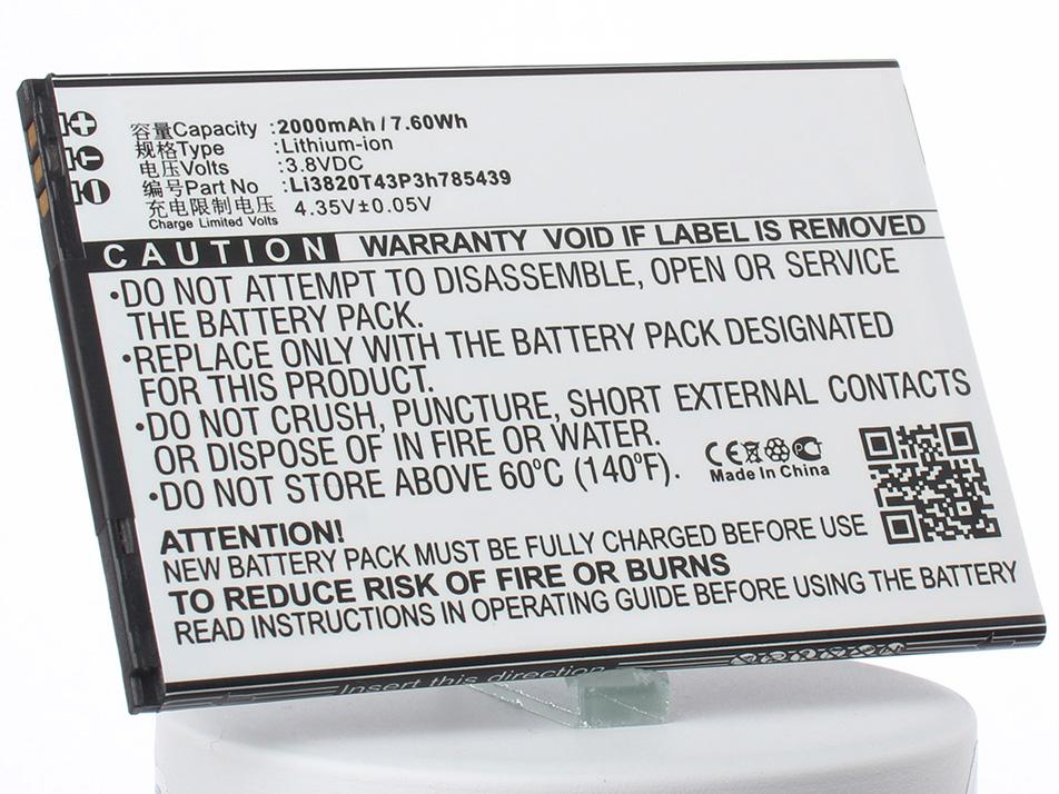 Аккумулятор для телефона iBatt Li3820T43P3h785439 для ZTE Blade L3 аккумулятор для телефона ibatt li3822t43p8h725640 для zte blade a510 ba510