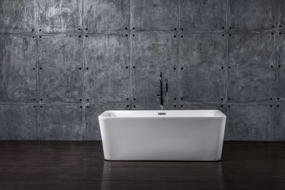 Ванна NT Bathroom Отдельностоящая акриловая NT10 170x78, белый акриловая ванна aquanet delight 208600 170x78