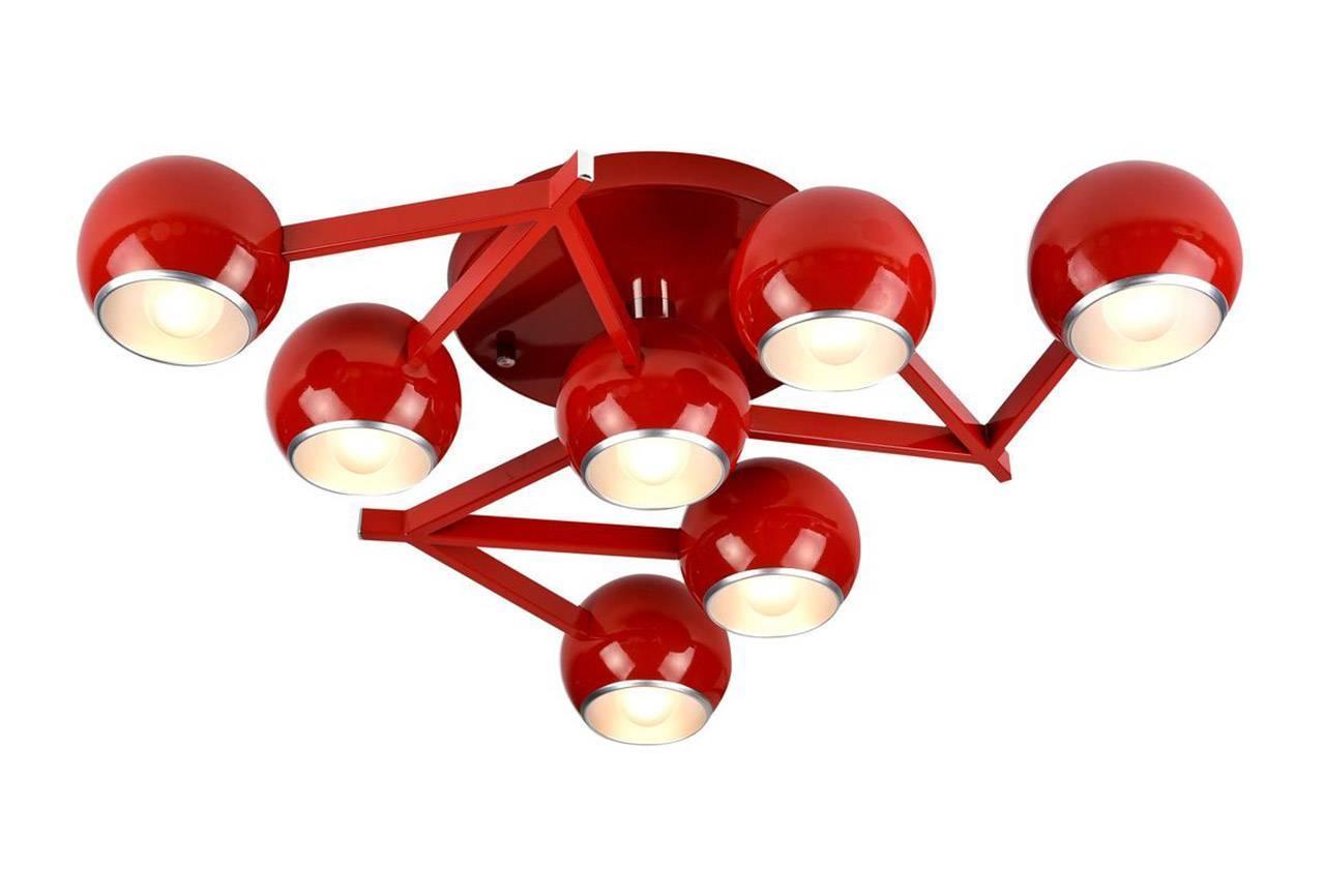 Потолочный светильник ST Luce SL853.602.07, красный люстра st luce rottura sl853 602 07 потолочная