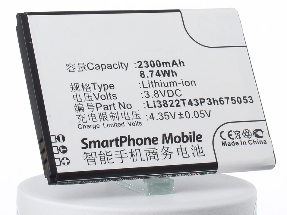 Аккумулятор для телефона iBatt Li3822T43P3h675053 для ZTE A430, Blade A430, Pro, 4G Smart original for zte blade vec 4g lcd display and touch screen assembly for zte blade vec 4g perfect repair part free shipping tool
