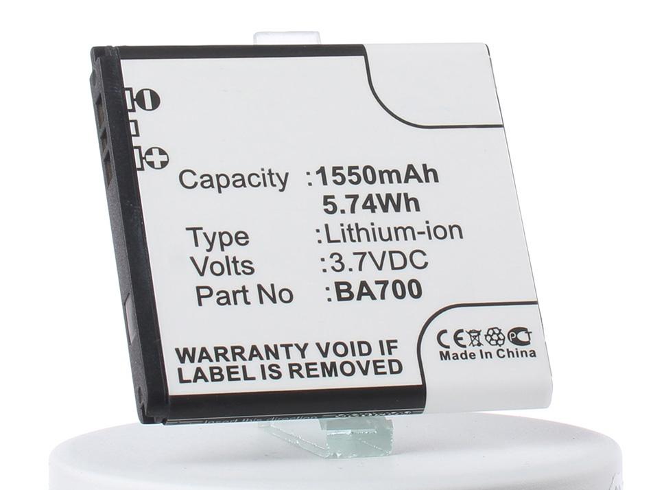 Аккумулятор для телефона iBatt BA700 для Sony Ericsson Xperia Ray (ST18i), Xperia E Dual (C1605), Xperia miro (ST23i), Xperia E (C1505), Xperia Tipo Dual (ST21i2), Xperia Tipo (ST21i), Xperia Neo V (MT11i), C1504, Xperia SX (SO-05D)
