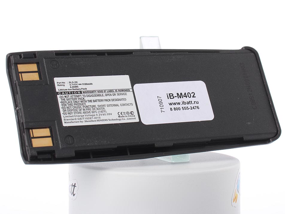 Аккумулятор для телефона iBatt BMS-2S, BPS-2, BLS-2N для Nokia 6110, 6310, 6310i, 1260, 1261, 3285, 5110, 5120, 5165, 5185, 6138, 6150, 6160, 6180, 6185, 6210, 7110, 1260i