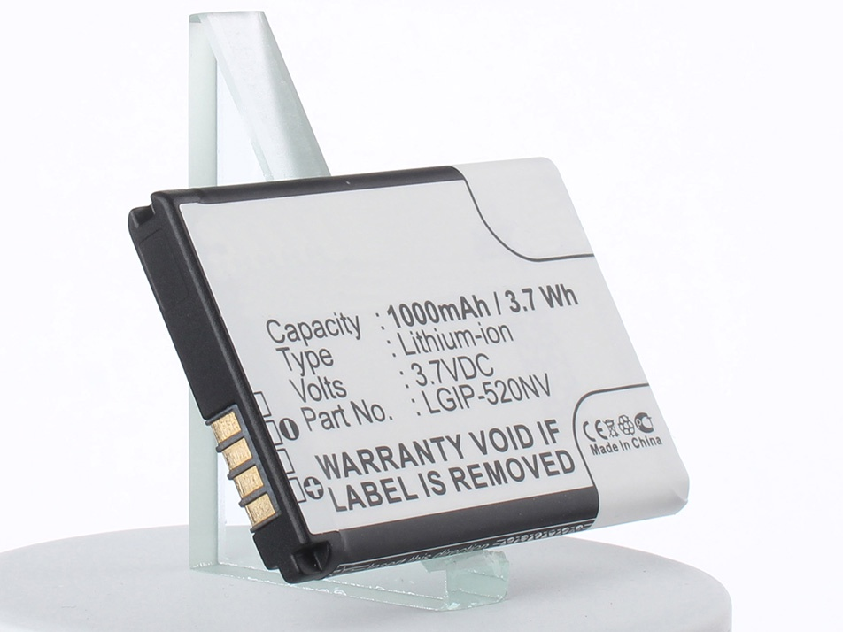 Аккумулятор для телефона iBatt LGIP-520N для LG Accolade, Cosmos Touch VN270, Extravert, Envoy, Evere аккумулятор для телефона ibatt lgip 430a lgip 431a для lg 220c kp110 gb102 ce110 gs170 410g cp150 kp210 gb130 km330 kp235 kf310 kp230 kp170 kp160 100c 230 nite 300g ax155 ax585 rhythm cb630 invision g100 kf311