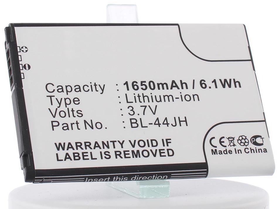 Аккумулятор для телефона iBatt BL-44JH, EAC61839001 для LG P705 Optimus L7, P700 Optimus L7, E450 Optimus L5 II, MS770 Motion 4G, LS860 Mach, VS415PP Optimus Zone 2, AS730, AS730 Optimus Select, Cayenne, Cayenne 4G LTE, LG730 Venice чехол для lg e450 optimus l5 ii ibox premium white