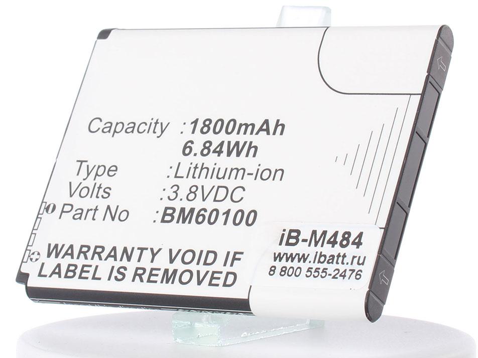 Аккумулятор для телефона iBatt BM60100, BA S890, 35H00201-16M для HTC Desire L, C525E, C520e, C525c, Desire 500 Dual Sim (HTC 506e), One SC (T528d), One ST (T528t), One SU (T528w), One SV (C520e, C525e) htc one e9s dual sim lte chestnut