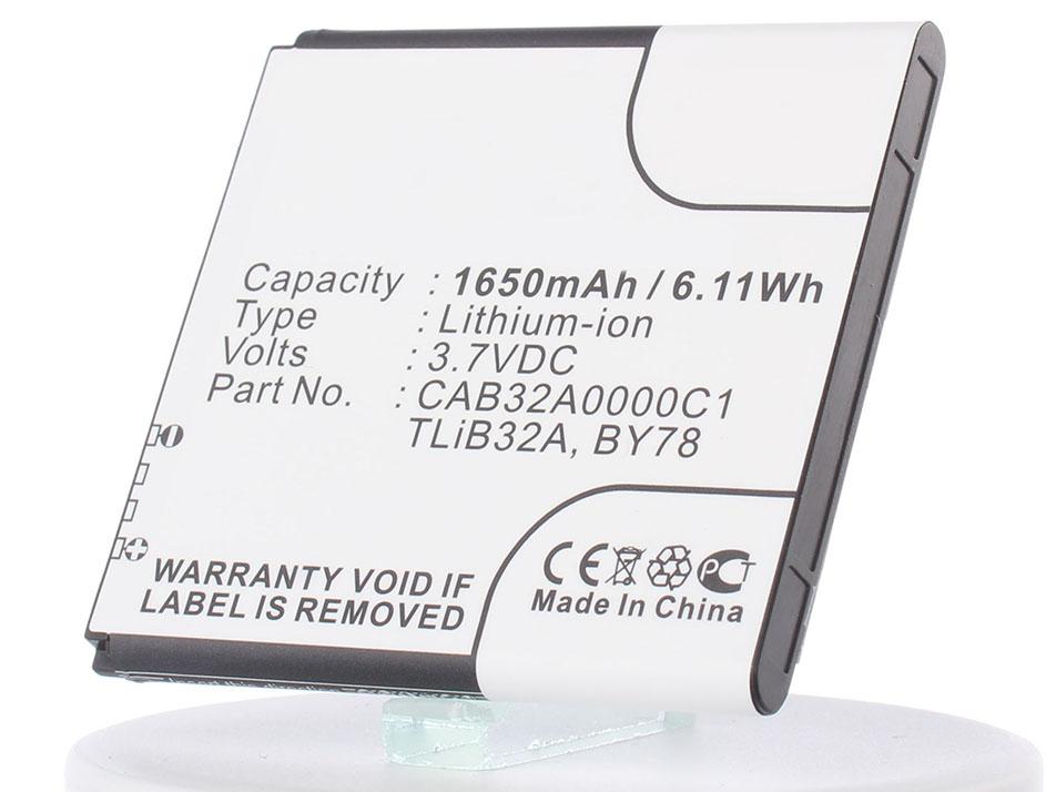 Аккумулятор для телефона iBatt CAB32A0000C1, TLIB32A, BY78, TLIB5AB, CAB32A0000C2, CAB32A0001C1, CAB1500007C1 для Alcatel One Touch 6010D, One Touch 991, One Touch Star 6010D, One Touch 6010, One Touch 992D, One Touch Star 6010, S500