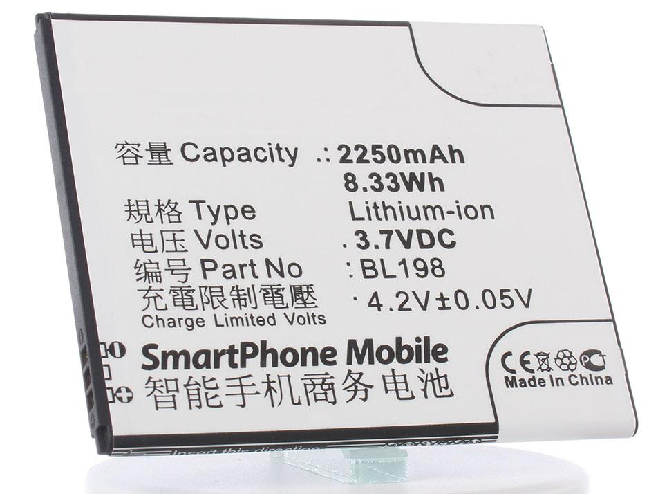 Аккумулятор для телефона iBatt BL198 для Lenovo A859, A850, S890, S880, A830, K860, K860i, S880i цена