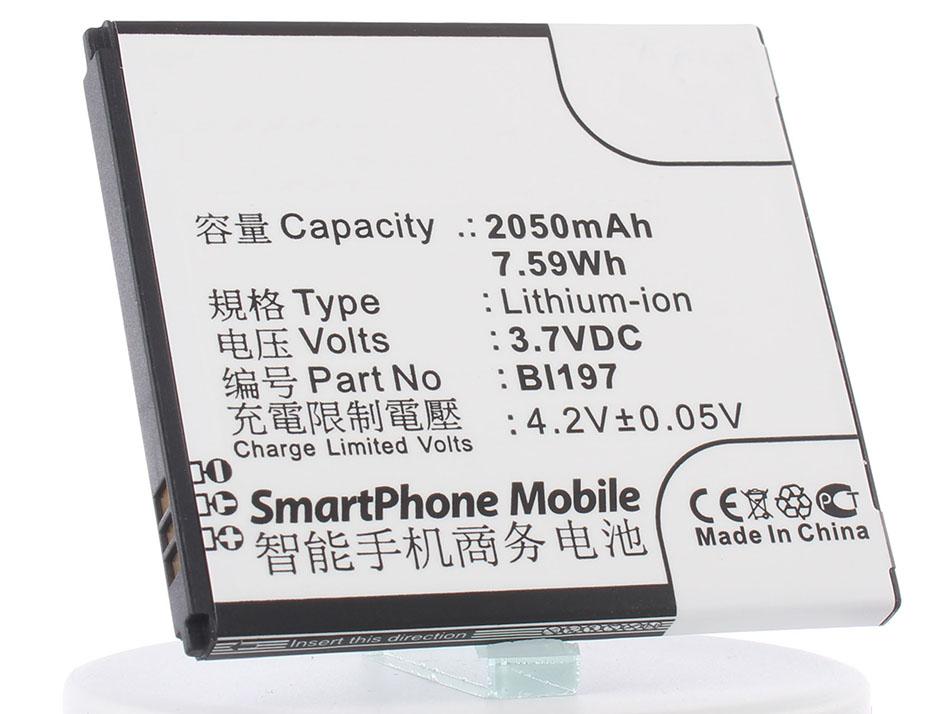 Аккумулятор для телефона iBatt BL197 для Lenovo S750, S720, S720i, A820T, S870e, A798T, S868T, A800, S889T, S899T аккумулятор для телефона ibatt ib bl197 m592
