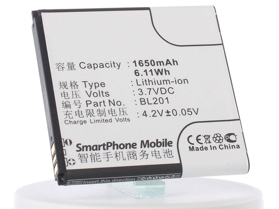 Аккумулятор для телефона iBatt BL201 для Lenovo A60, A60+