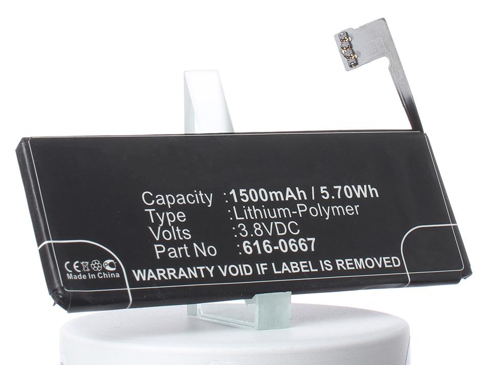 Аккумулятор для телефона iBatt 616-0667, G69TA007H для Apple iPhone 5C, A1456, A1526, A1507 аккумулятор для телефона apple iphone 7 616 00256 1960mah