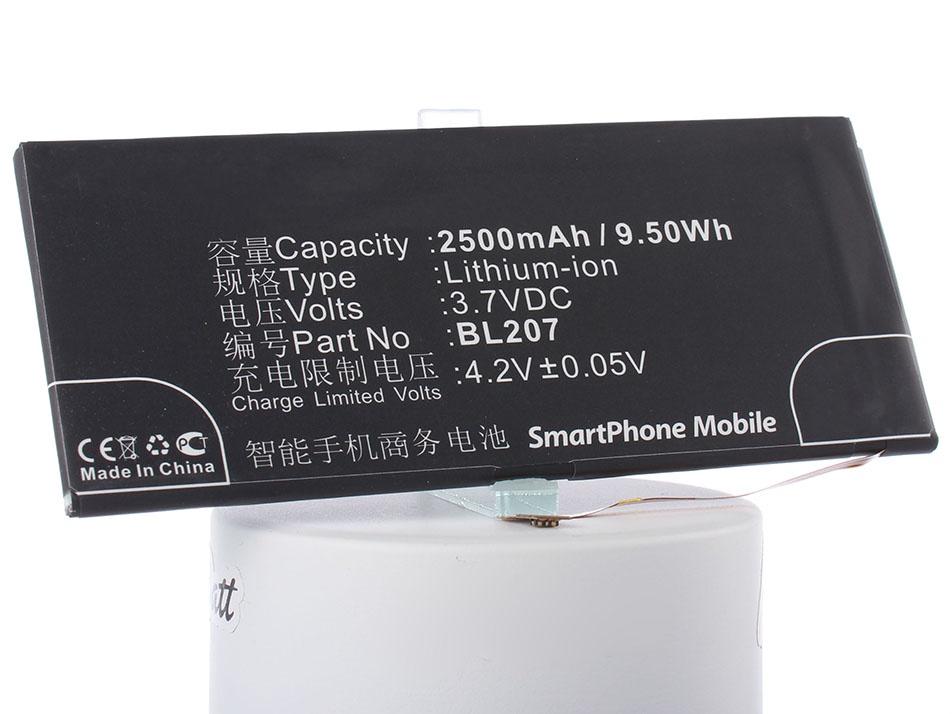 Аккумулятор для телефона iBatt BL207 для Lenovo K900, K100 аккумулятор для телефона craftmann bl207 для lenovo k900