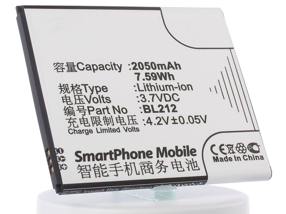 Аккумулятор для телефона iBatt BL212 для Lenovo S898t, A708t, A620T, A628t, A620 аккумулятор для телефона ibatt ib bl212 m670