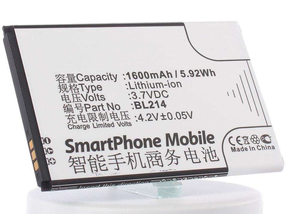 Аккумулятор для телефона iBatt BL214, BL203 для Lenovo A369i, A316i, A66, A269, A278t, A308t, A208t, A318t, A218t, A305e, A365e цена