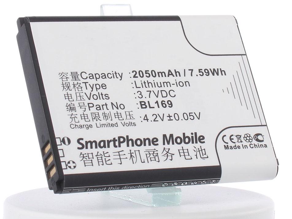 Аккумулятор для телефона iBatt BL169 для Lenovo S560, A789, P70 аккумулятор для телефона ibatt ib bl169 m673