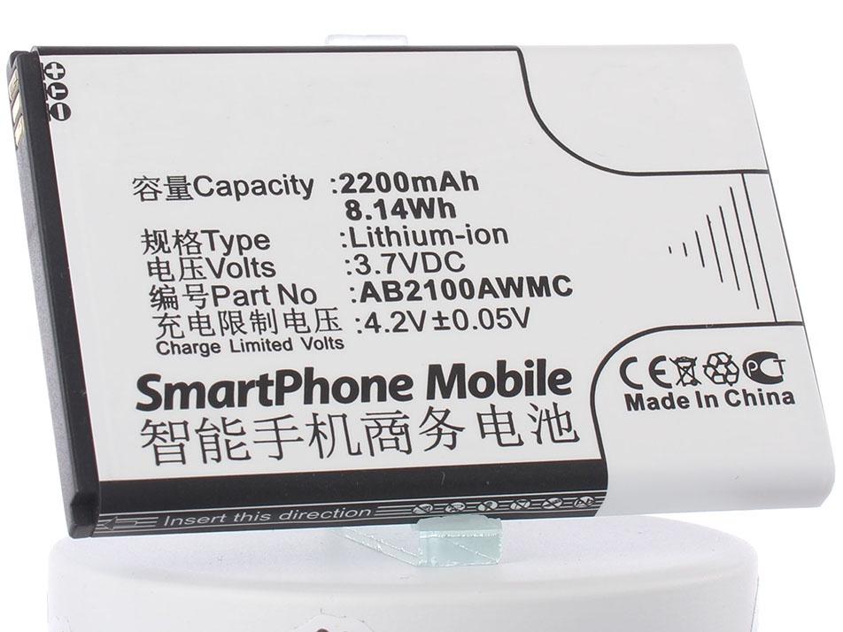 Аккумулятор для телефона iBatt AB2100AWMC для Philips W632, Xenium X622, Xenium W336, Xenium W632, W725, V726, Xenium W8568, Xenium V726, Xenium W820, Xenium W725 philips xenium e570 dark gray