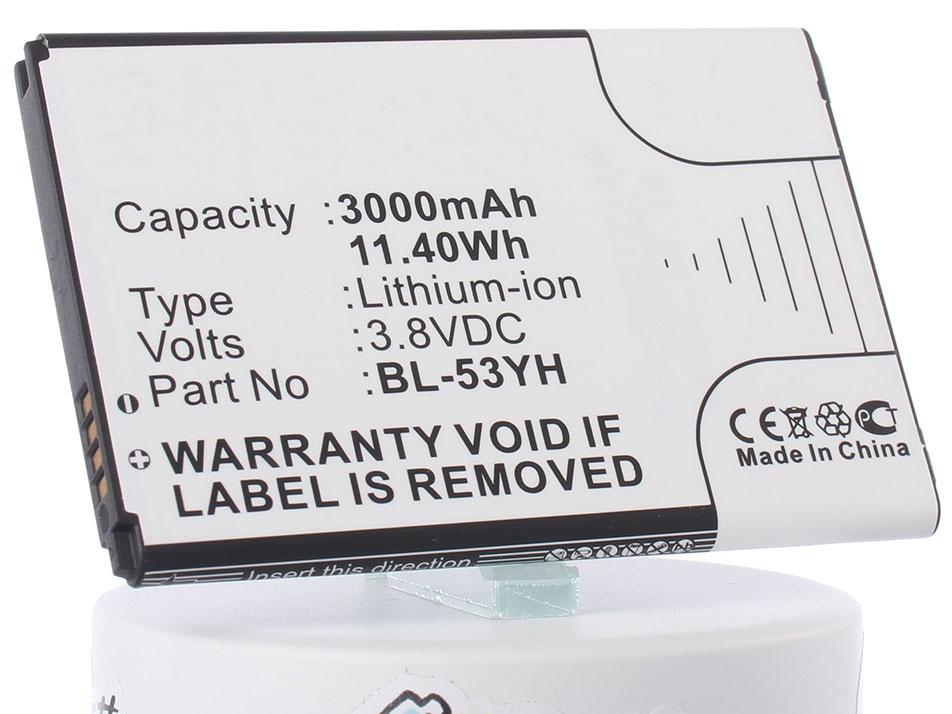 Аккумулятор для телефона iBatt BL-53YH для LG D855 G3, D690, D690 G3 Stylus, D851 G3, D850 G3, D856 (LG G3 Dual-LTE), VS985 G3, LS990 G3, D690N, F400 G3, AKA original bl 53yh battery for lg optimus g3 d830 d850 d851 d855 ls990 vs985 f400 3000mah