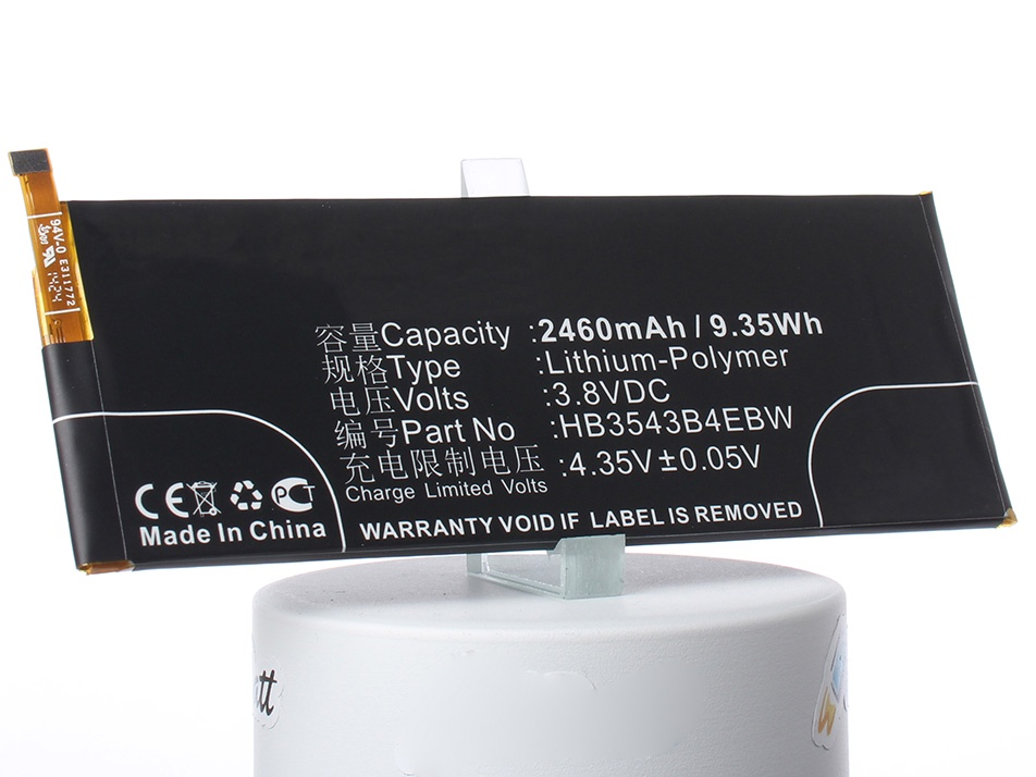 Аккумулятор для телефона iBatt HB3543B4EBW для Huawei Ascend P7, Ascend P7-L00, Ascend P7-L05 аккумулятор для телефона ibatt ib huawei ascend p7 m750