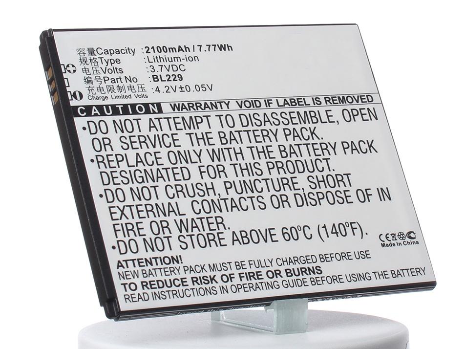 Аккумулятор для телефона iBatt BL229 для Lenovo A806, A808T, A808T (A8), A806 (Golden Warrior A8), A8 цена 2017