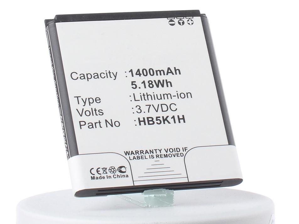 Аккумулятор для телефона iBatt HB5K1H, HB5K1, CS-HU8650XL для МТС C 955, C 965, C8650, M865, U8850 Vision, C8850, U8650 (Huawei Sonic), U8666E Ascend Y201 Pro, M865 Ascend II, C8655 Ascend Y201C, Sonic Ascend II, T8620 Ascend Y200T