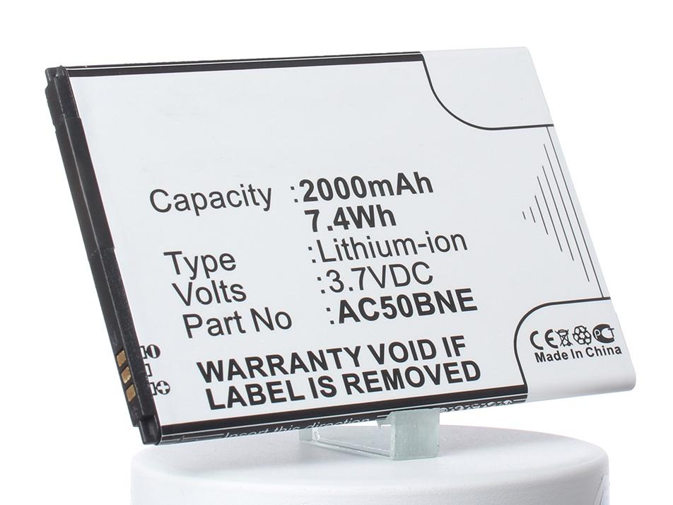 Аккумулятор для телефона iBatt AC50BOX, AC50BNE для Archos 50 Neon, Mika M2, 50b Oxygen, 50 Platinium, 50 Neon 4G archos 70b neon