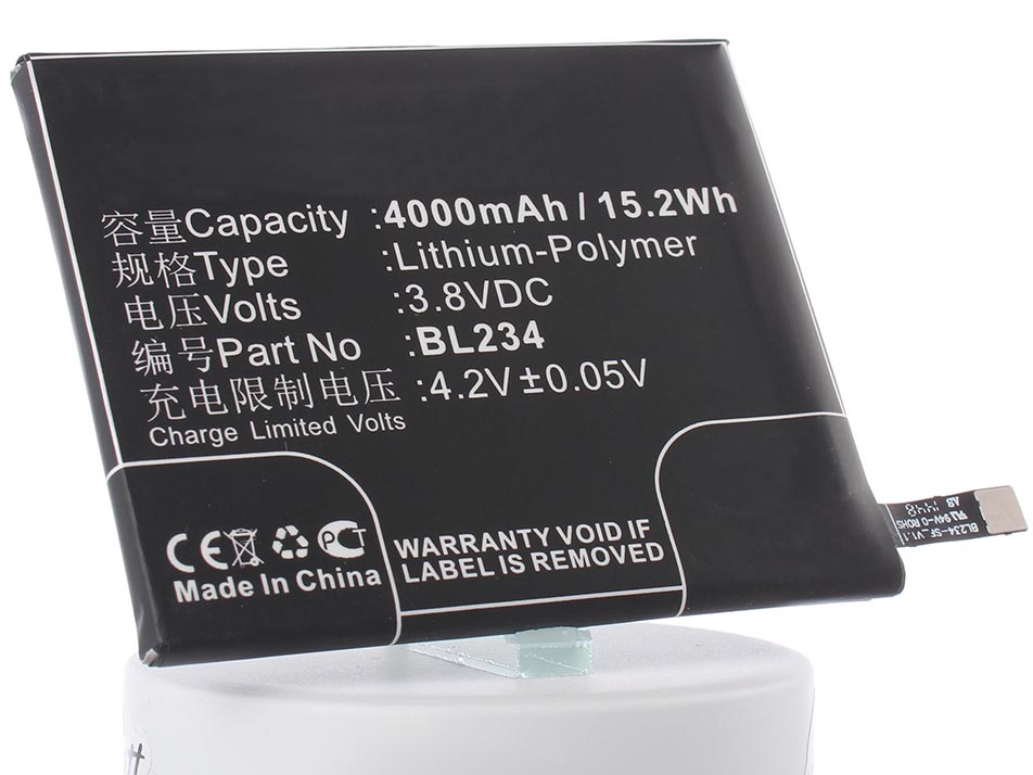 Аккумулятор для телефона iBatt BL234 для Lenovo P70-A, A5000, VIBE P1m, P70t, P70-T, A5000 DUAL цена